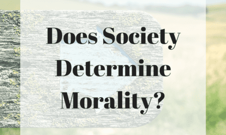 Does Society Determine Morality?