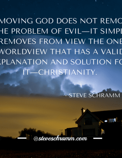 REMOVING GOD DOES NOT REMOVE THE PROBLEM OF EVIL