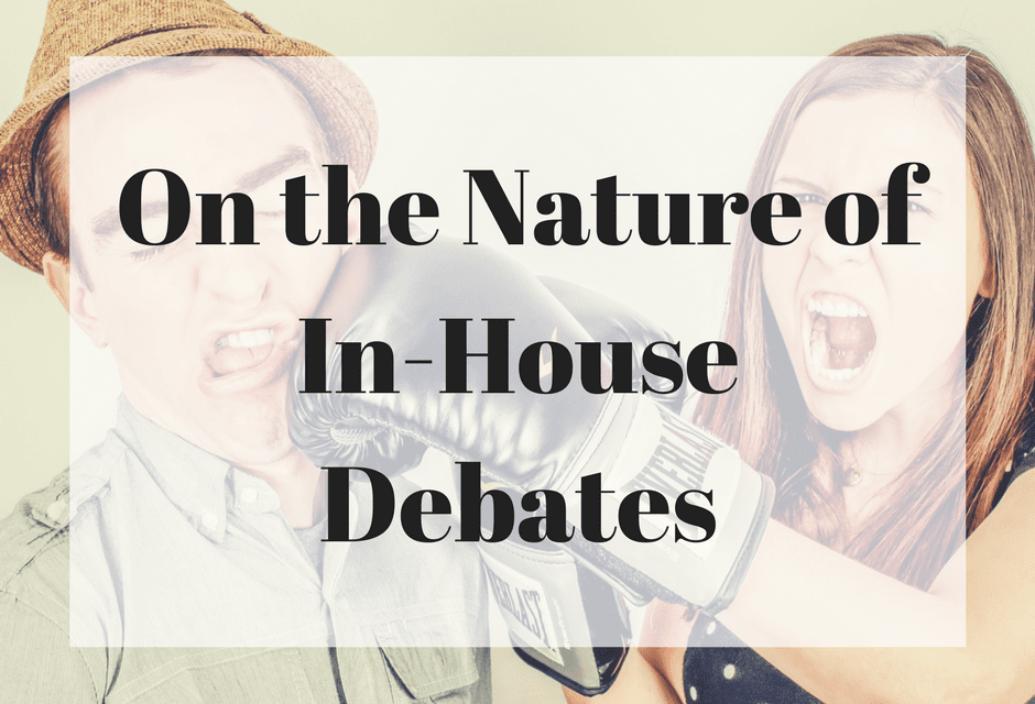 On the Nature of In-House Debates