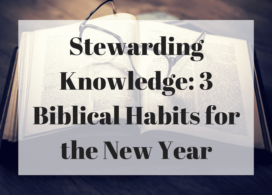 Stewarding Knowledge: 3 Biblical Habits for the New Year