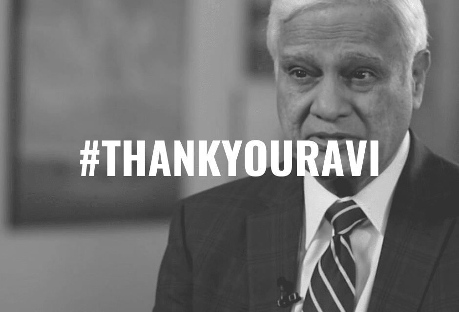 #ThankYouRavi